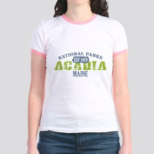 Acadia National Park Maine Jr. Ringer T-Shirt