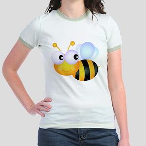 Cute Cartoon Bumble Bee Jr. Ringer T-Shirt