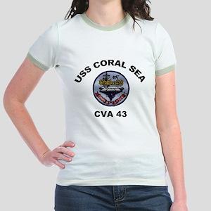 CVA-43 USS Coral Sea Jr. Ringer T-Shirt