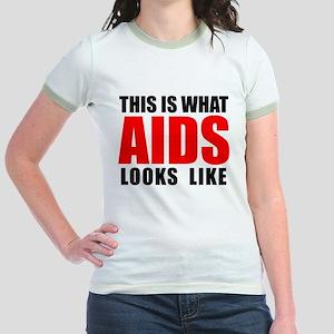 What AIDS looks like Jr. Ringer T-Shirt