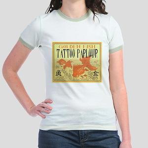 golden Fish Tattoo Jr. Ringer T-Shirt