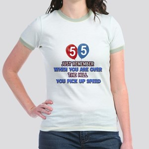 55 year old designs Jr. Ringer T-Shirt