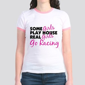 Real Girls Go Racing Jr. Ringer T-Shirt