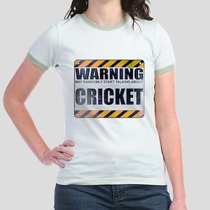 Warning: Cricket Jr. Ringer T-Shirt