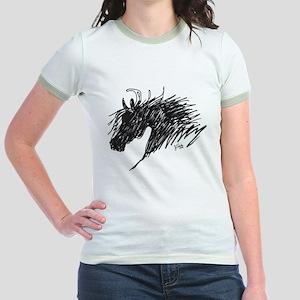 Horse Head Art Jr. Ringer T-Shirt