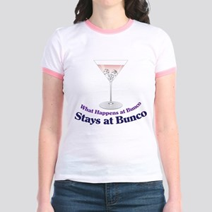 What Happens at Bunco Jr. Ringer T-Shirt