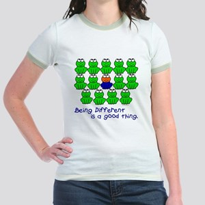 Being Different 1 (FROGS) Jr. Ringer T-Shirt