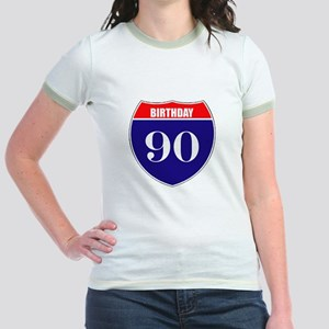 90th Birthday! Jr. Ringer T-Shirt