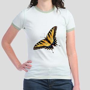 Tiger Swallowtail Butterfly Jr. Ringer T-Shirt