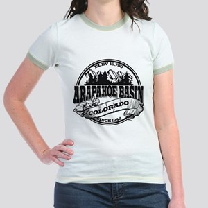 A-Basin Old Circle Black Jr. Ringer T-Shirt