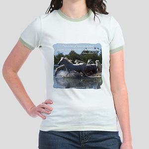 Horses w/ Proverb Jr. Ringer T-Shirt