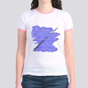 Flutist Verse Jr. Ringer T-Shirt