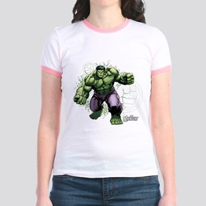 Avengers Hulk Fists Jr. Ringer T-Shirt