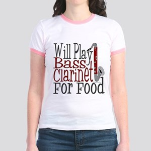 Will Play Bass Clarinet Jr. Ringer T-Shirt