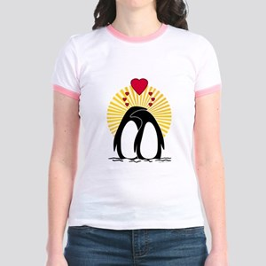 Loving Penguins (sunburst) Jr. Ringer T-Shirt