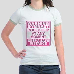 Warning Gymnast Flip Jr. Ringer T-Shirt