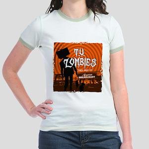 T.V. Zombies Jr. Ringer T-Shirt