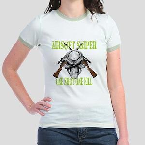 sniper skull Jr. Ringer T-Shirt
