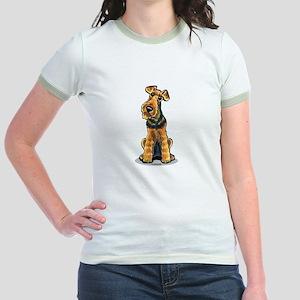 Airedale Welsh Terrier Jr. Ringer T-Shirt