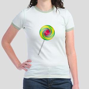 Swirly Lollipop Jr. Ringer T-Shirt