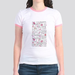 Romantic Rose Petals inspirational words T-Shirt