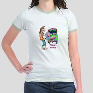Hey Man- Hippie & Van Jr. Ringer T-Shirt