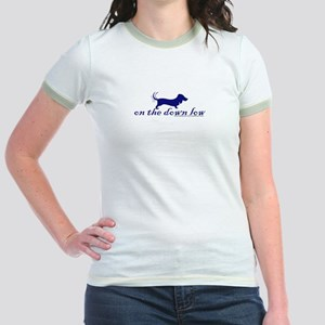 """""""on the down low"""" Doxie Jr. Ringer T-Shirt"""