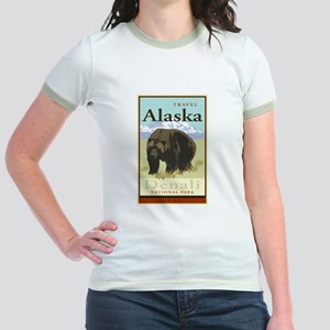 Travel Alaska Jr. Ringer T-Shirt