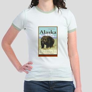 Travel Alaska Jr. Ringer T-Shirt