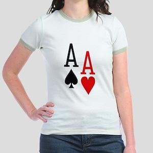 Pocket Aces Poker Jr. Ringer T-Shirt