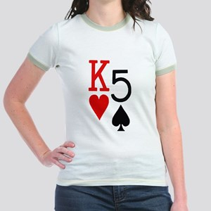 Kh5s Poker Jr. Ringer T-Shirt