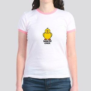 Banker Chick Jr. Ringer T-Shirt