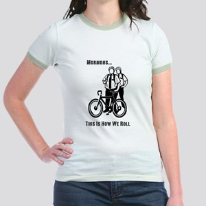 Mormons:This Is How We Roll Jr. Ringer T-Shirt