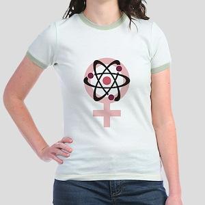 Female Scientist Jr. Ringer T-Shirt