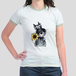Sunflower Schnauzer Jr. Ringer T-Shirt