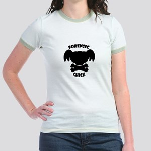 Forensic Chick Jr. Ringer T-Shirt