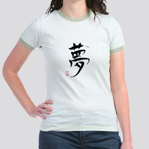 Dream Japanese Kanji Jr. Ringer T-Shirt