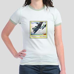 """Flying Fortress Engines Ad"" Jr. Ringer T-Shirt"