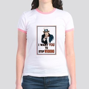 STOP WHINING Jr. Ringer T-Shirt