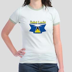 St Lucia Ribbon Jr. Ringer T-Shirt