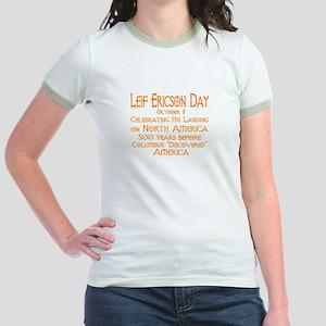 Leif Ericson Day Jr. Ringer T-Shirt