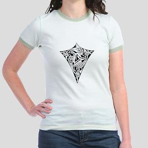 Celtic Zoomorphic Shield Jr. Ringer T-Shirt