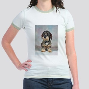 Wirehaired Dachshund Jr. Ringer T-Shirt