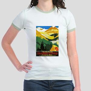 Canada Travel Poster 7 Jr. Ringer T-Shirt