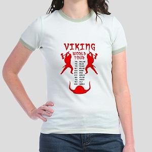 Viking World Tour Funny Norse T-Shirt Jr. Ringer T