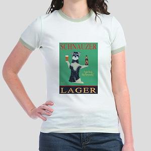 Schnauzer Lager Jr. Ringer T-Shirt