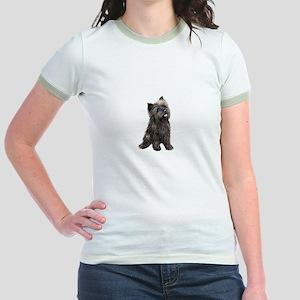 Brindle Cairn (#14) Jr. Ringer T-Shirt