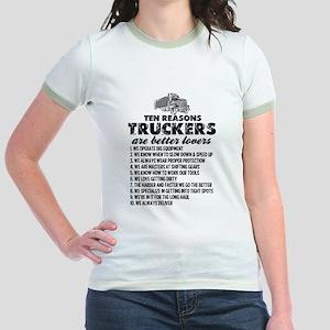 10 Reasons Truckers Better Lovers T-Shirt