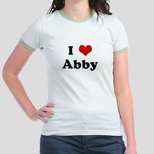 I Love Abby Jr. Ringer T-Shirt
