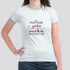 Morkie PERFECT MIX Jr. Ringer T-Shirt